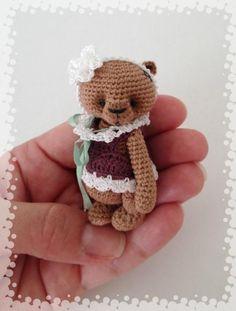 -Crocheting: Miniature Crochet Thread Artist Bear