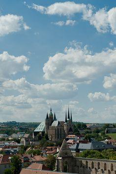 Blick vom Bartholomäusturm auf den Erfurter Dom