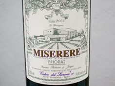 2002 Costers del Siurana Priorat Miserere, Spain. 130101 to lambs filé with Libanese tastes. A great wine! Well integrated with all pieces in the right places. Bought in Priorat at  the wineyard.