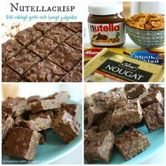 Nutellacrisp Christmas Sweets, Christmas Candy, Christmas Baking, Pasta Med Bacon, Just Bake, Homemade Candies, Healthy Sweets, Candy Recipes, Nutella