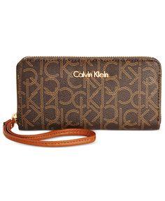 Calvin Klein Monogram Wallet Wristlet