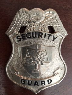 Vintage Security Gaurd Badge, Solid Metal, Excellent Condition by PaintedLadyAntiques on Etsy