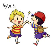 lucas and ness- mother 3 and earthbound