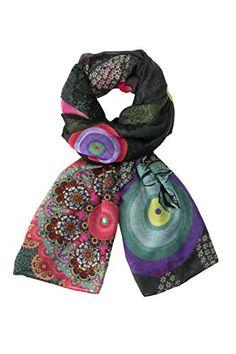 6ff7b611b3192 Desigual Flower Galactic - Foulard - Imprimé - Femme - Noir (Negro) -  Taille unique (Taille fabricant  Taille unique)  Amazon.fr  Vêtements et  accessoires