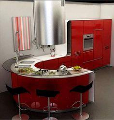 round kitchen island - חיפוש ב-Google