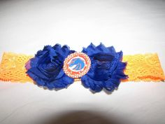 Boise state inspired headband by WillowBugsCreations on Etsy
