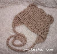 Baby Beanie with Earflaps and Ears - Free Crochet Pattern