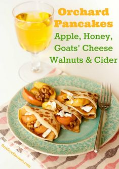 Recipe: Orchard Pancakes - Cider, Apple, Goats' Cheese & Walnut - Fuss Free Flavours