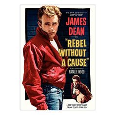Vintage James Dean Rebel Without A Cause #2 Movie Film A3 Poster Print... (£7.99) ❤ liked on Polyvore featuring home, home decor, wall art, movie home decor, paper wall art, photo poster, paper poster and movie posters