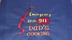 Personalized Custom Embroidered Emergency by mrsstitchsboutique, $26.95