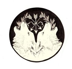 I can't wait for this to arrive!     {Giclee Print Guest of the Wolf Modern Hex Original by hexes, $20.00}