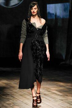 Prada Fall/Winter 2013 Ready-to-Wear Collection via Designer Miuccia Prada; modeled by Amanda Murphy