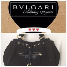 Authentic Bvlgari black purse A must have for all elegant woman Price is firm! No Bundle ! Bulgari Bags Shoulder Bags