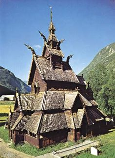 Borgund Stave Church Norway. This looks like something out of How to Train Your Dragon!