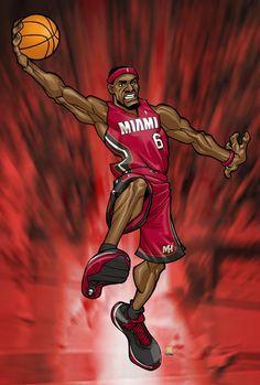 lebron james by Bernard Chang Lebron James Wallpapers, Nba Wallpapers, Basketball Shirts, Basketball Teams, King Lebron James, Doodle Characters, Lakers Kobe Bryant, Baskets, Basket Ball
