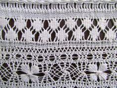 Vó Donazinha: bainha aberta Drawn Thread, Thread Work, Needlework, Crochet Top, Embellishments, Diy And Crafts, Decoration, Embroidery, Sewing