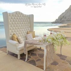 This sweetheart table talks by itself! Linen Rentals, Sweetheart Table, Event Design, Wedding Details, Love Seat, Wedding Decorations, Couch, Pillows, Instagram Posts