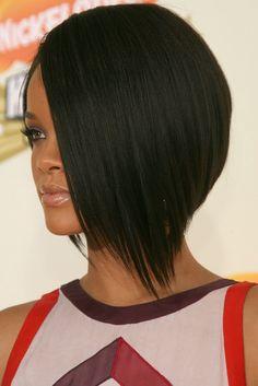 Rihanna asymetrical bob