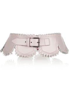 AlaïaScalloped leather belt from the OutNet