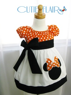 Custom Boutique style Minnie Mouse Peasant Dress by cutieflair