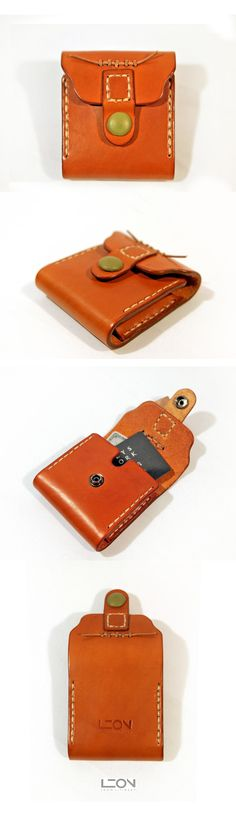 Leather Card Holder by Leon Litinsky.