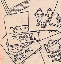 1940s Hand Embroidery PATTERN 132 Cross Stitch by BlondiesSpot, $3.99
