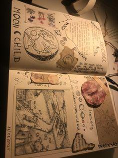 Art Diary, Arte Sketchbook, Journal Aesthetic, Bullet Journal Inspo, Scrapbook Journal, Book Of Shadows, Journal Pages, Journal Inspiration, Art Sketches