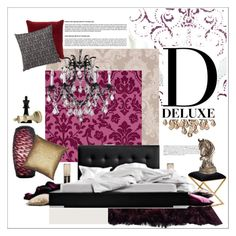"""D for Deluxe"" by szaboesz ❤ liked on Polyvore featuring interior, interiors, interior design, home, home decor, interior decorating, Astek, Worlds Away, Gallery and Crystorama"