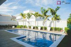 Área de Lazer com piscina de 50,00m2 no Swiss Park em Campinas, SP.  Projeto do Arq. Thiago Seber  www.sebermorais.com.br