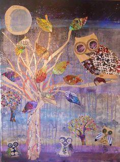 Art Print: Owlz by Shannon Crandall :