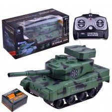 Осадный Танк 3881A стрельба, р/у, на аккумуляторах, з/у, в коробке