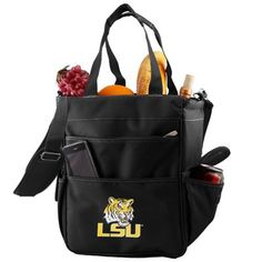 LSU Tigers Black Large Insulated Tote Bag