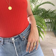 Styling by signehyllested showing Osiris Shiny Pendant Gold, Bubble Ring Sky Blue Medium Gold, Cross Ring Gold and Ribbon Ring Wide Polished Gold #jewellery #Jewelry #bangles #amulet #dogtag #medallion #choker #charms #Pendant #Earring #EarringBackPeace #EarJacket #EarSticks #Necklace #Earcuff #Bracelet #Minimal #minimalistic #ContemporaryJewellery #zirkonia #Gemstone #JewelleryStone #JewelleryDesign #CreativeJewellery #OxidizedJewellery #gold #silver #rosegold #hoops #armcuff #jewls…
