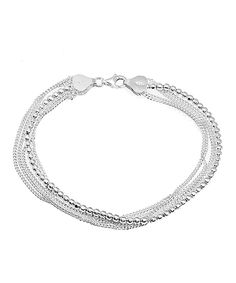 Look at this #zulilyfind! Sterling Silver Cuban & Ball Multi-Strand Bracelet by Sevil 925 #zulilyfinds
