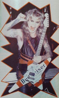 Mean Man Chris Holmes in W.A.S.P. #ChrisHolmes #MeanMan #wasp #JacksonGuitars #Budweiser #WASPgallery #WaspForce fb
