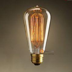 (ST64) Wholesale Price Fashion Incandescent Vintage Light Bulb,Beautiful Light Bulb,E27/220V/40W 60*140(mm),Antique Light(BD-45)