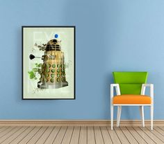 Doctor Who: Dalek Art Print BBC TV Show series by printsgeek