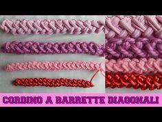 CORDINO A BARRETTE DIAGONALI - Per bracciali, cinture e manici di borse - NUNZIA VALENTI - YouTube