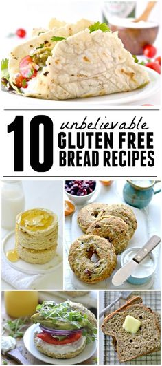 An incredible round up of bread recipes that you would never know are without gluten!