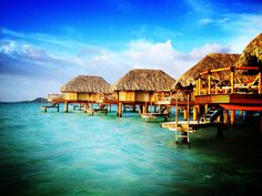 Phoneography Challenge: Overwater bungalows at the Bora Bora Pearl Beach Resort  @Photojojo  @Brit Morin Morin