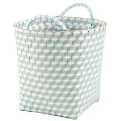 Small Strapped for Storage Bin (Blue) in All Sale | The Land of Nod