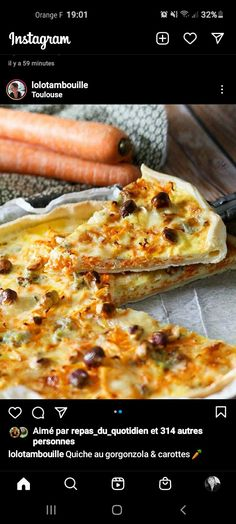 Quiches, Pizza, Cheese, Food, Carrot, Essen, Meals, Pies, Yemek