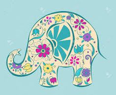 Blue elephant painted by flowers Poster Cartoon vector illustration Poster Poster. Elephant Bleu, Elephant Art, Baby Elephant, Cartoon Elephant, Plant Drawing, Drawing Flowers, Painting Flowers, Art Flowers, Flowers Garden