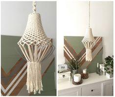 Macrame chandelier by TEX MB.