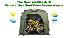 Weatherproof outdoor bike storage for tight spaces . . .