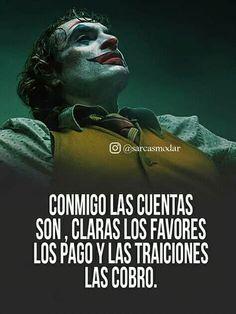 Joker Frases, Joker Quotes, Quotes En Espanol, Feelings Words, True Quotes, Poems, Humor, Irene, Spanish