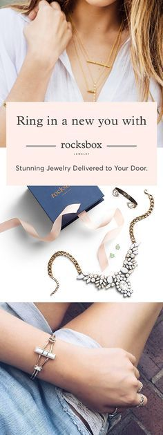Sign up to Rocksbox and receive a curated box of designer jewelry delivered to your door. For just $19/mo, you'll receive 3 unique pieces at a time with the option to borrow, buy or swap at any time. Featuring more than 30 on-trend designers such as Gorjana, Kendra Scott and House of Harlow.