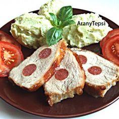 Snack kolbásszal töltött karaj Avocado Toast, Baked Potato, Camembert Cheese, French Toast, Baking, Breakfast, Ethnic Recipes, Food, Morning Coffee