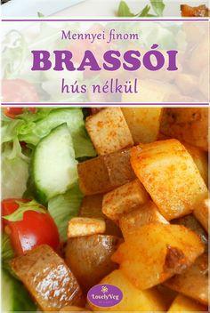 Vegán brassói - LovelyVeg Vegan Vegetarian, Vegetarian Recipes, Smoothie Fruit, Vegas, Recipe Box, Sweet Potato, Lunch, Vegetables, Cooking