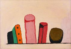 Untitled (wall) (1969-73) by Canadian-American artist Philip Guston (1913-1980). Oil on panel. via ah hole ah hole